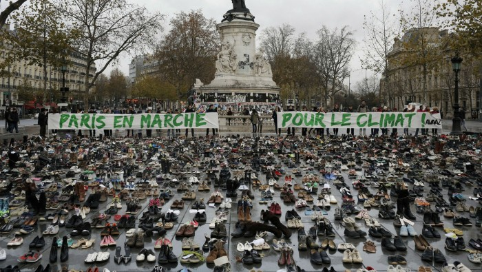 A moving display of peaceful activism in a shaken Paris
